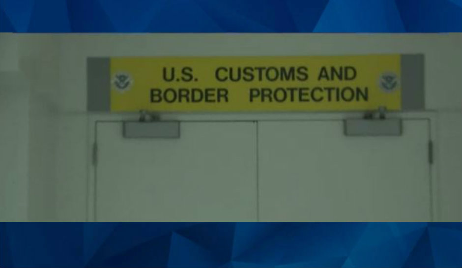 Us Customs sign
